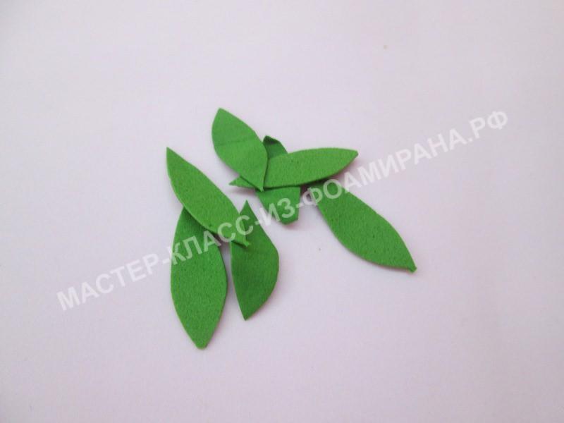подготовка листьев