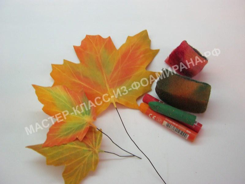 тонировка кленовых листочков