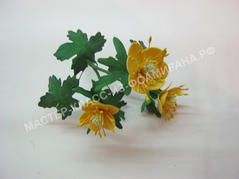мастер-класс простые цветы из фоамирана,пошаговое фото