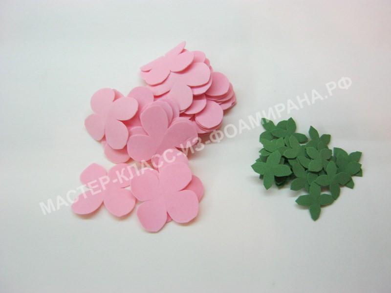 заготовки цветка герани