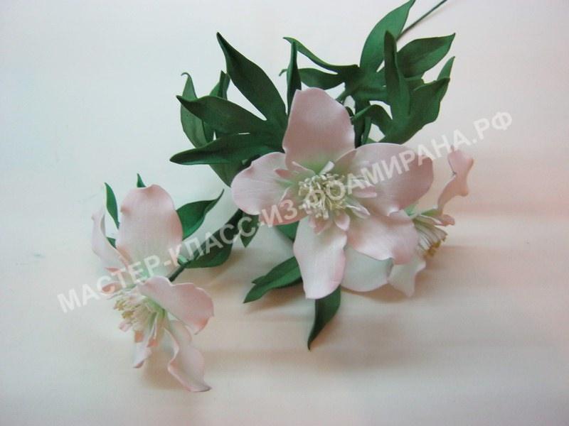 Весенние цветы из фоамирана,пошаговое фото