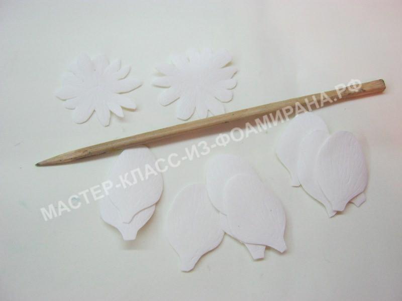 нанесения текстуры на лепестки