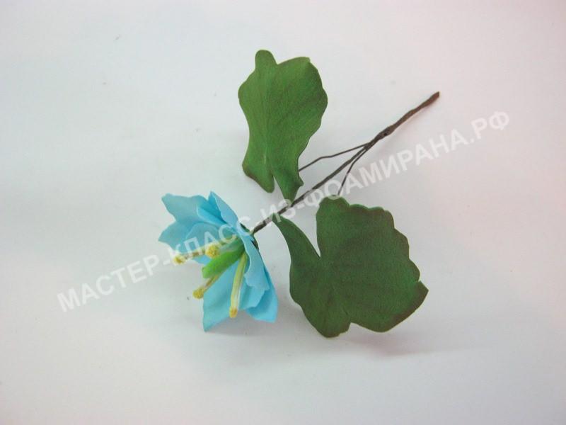 Мастер-класс синие цветы из фоамирана.