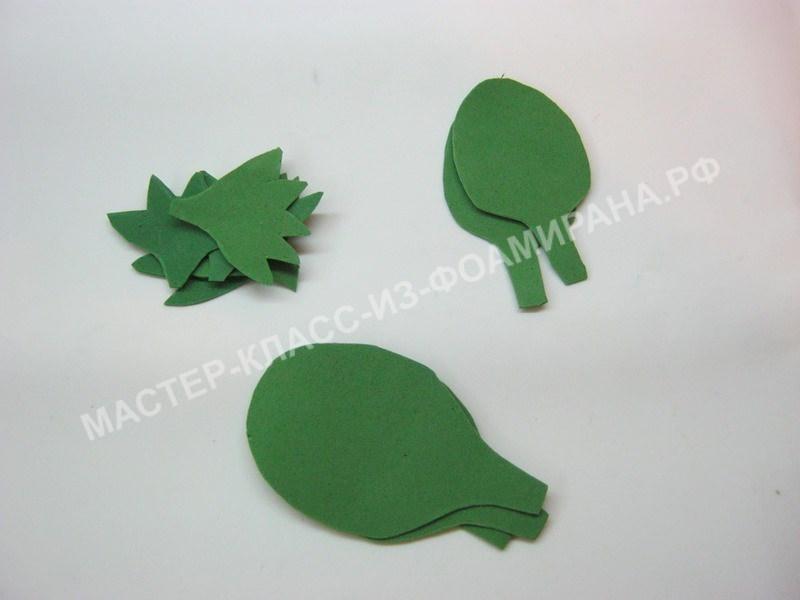 заготовки листьев и чашелистиков