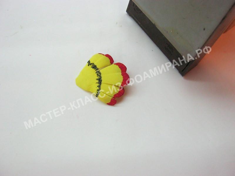 обработка лепестков для бутона