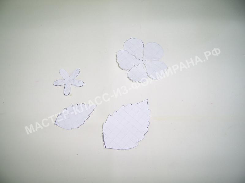 выкройка для цветка миндаля