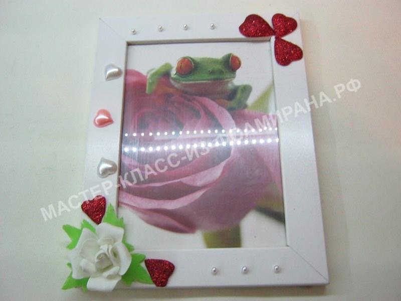 МК декор фото-рамки фоамираном,пошаговое фото