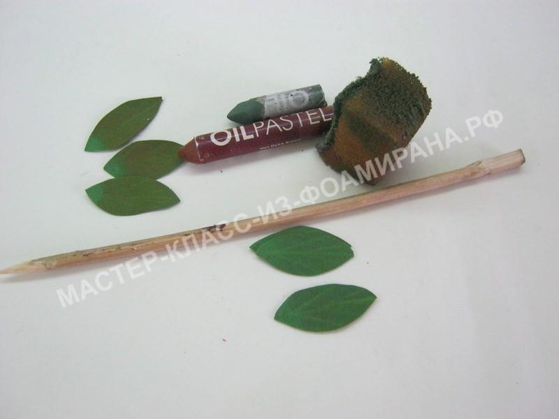 обработка и тонировка листочков