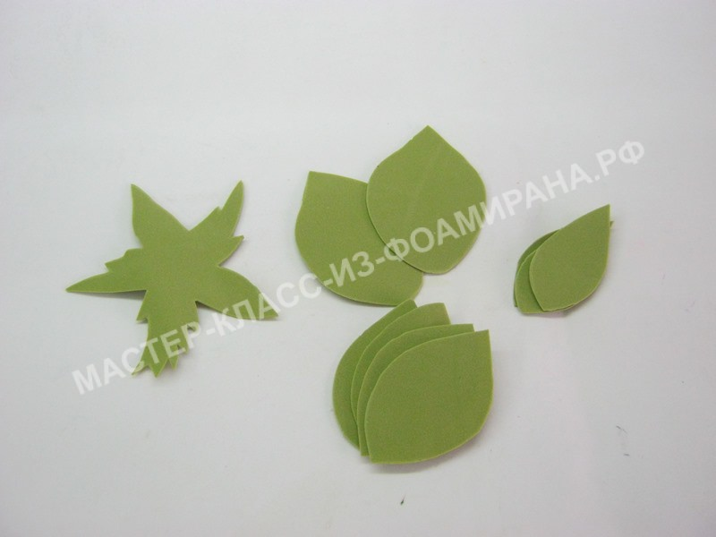 заготовки листьев и чашелистика
