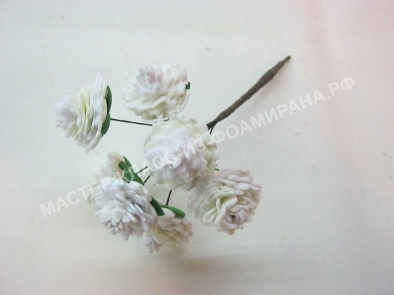 Мастер-класс гипсофила из фоамирана,пошаговое фото