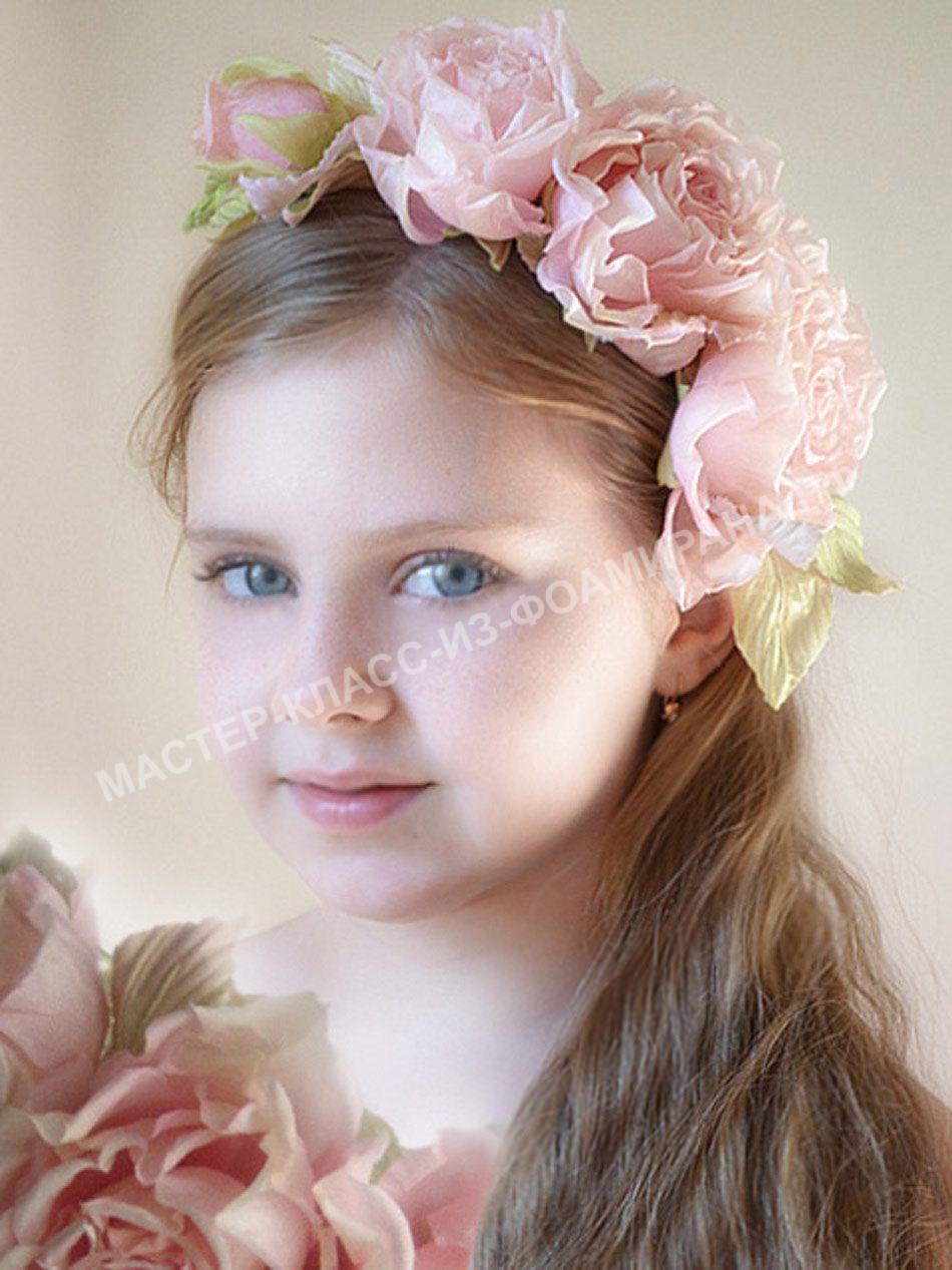 детские прически с цветами из фоамирана