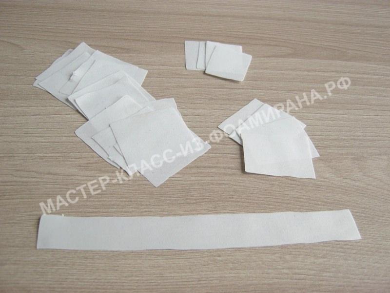 обработка белого фоамирана