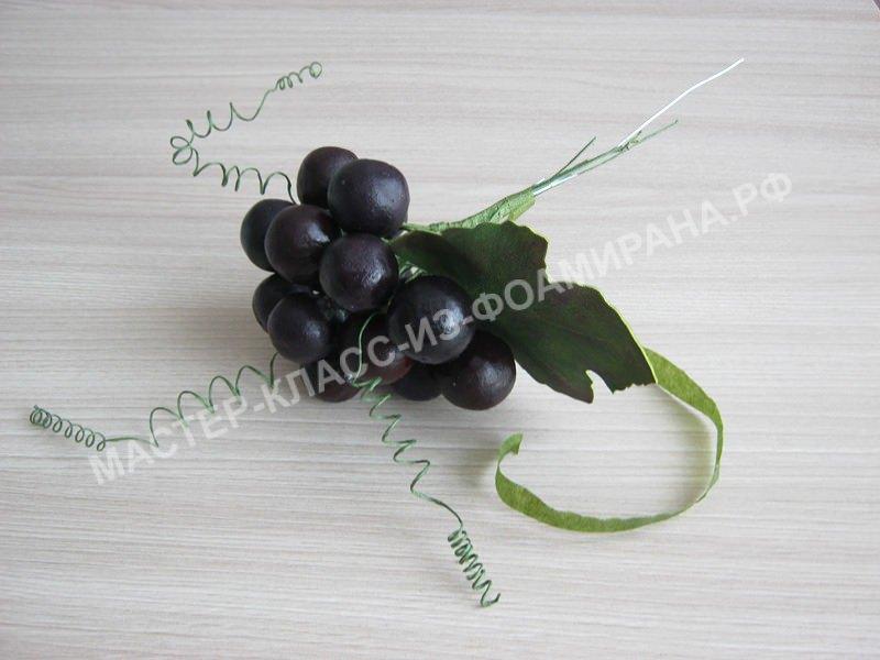 сборка грозди винограда