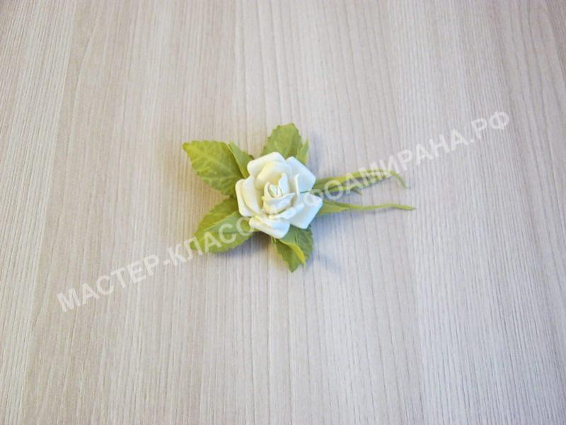 Мастер-класс брошь мини розочка из фоамирана, пошаговое фото.