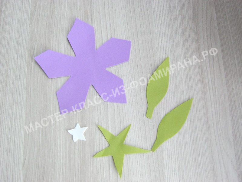 заготовки для цветка колокольчика