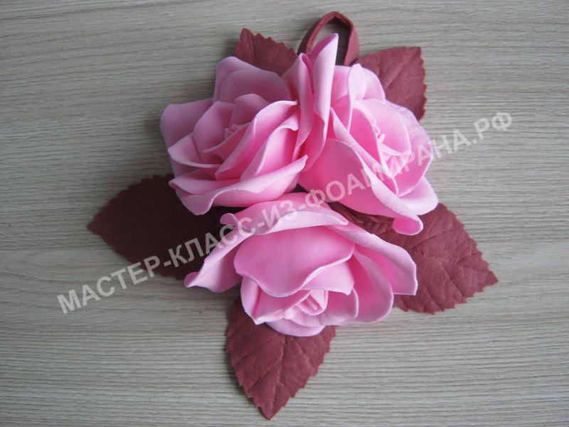 кулон с розами