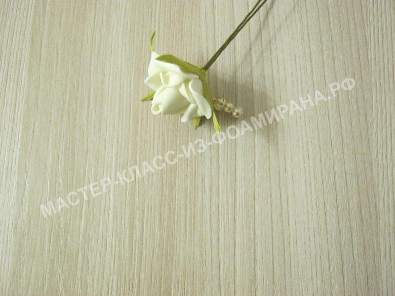 Мастер-класс декор шпильки розочкой из фоамирана,пошаговое фото.
