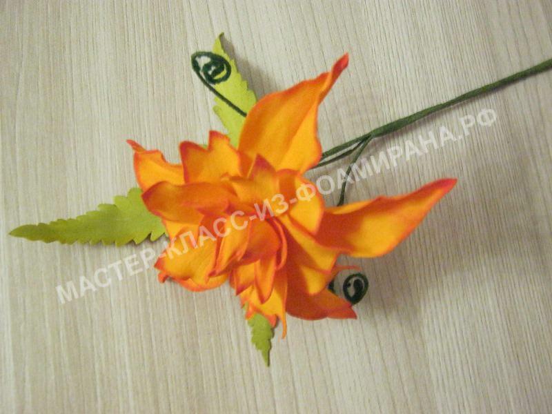 Мастер-класс цветущий папоротник из фоамирана, пошаговое фото.