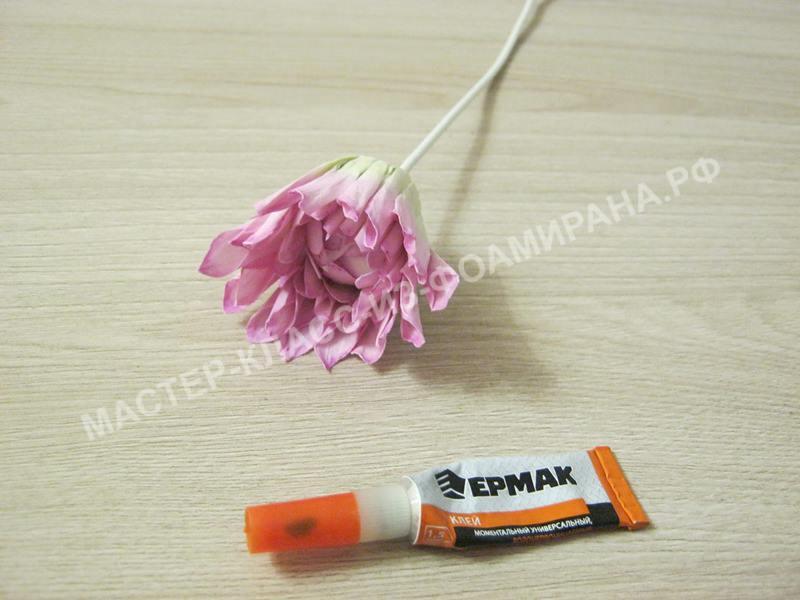 сборка цветка георгина