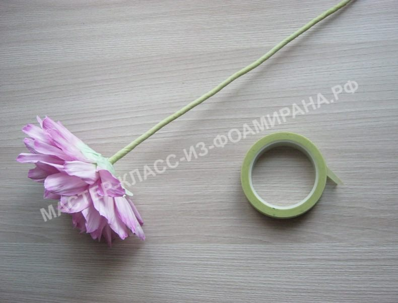 обработка стебля тейп- лентой