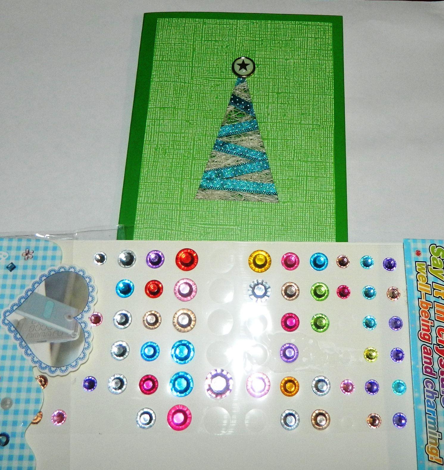 Мастер-класс: Открытка Новогодняя елочка