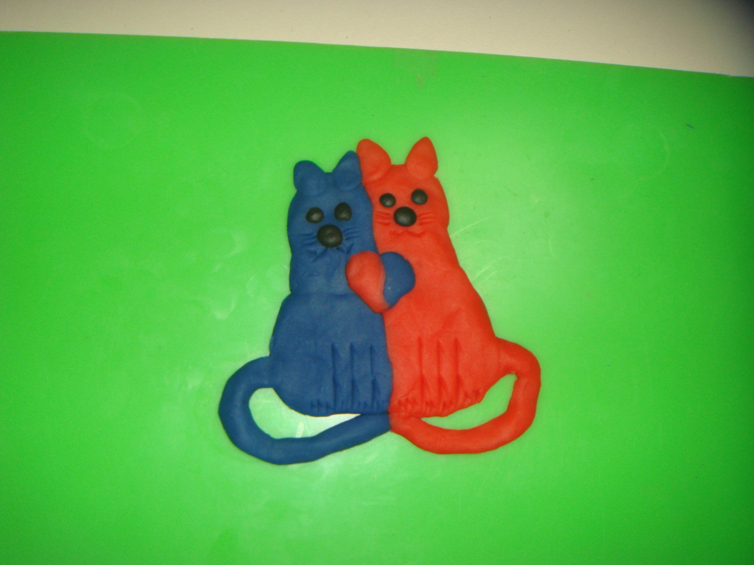 """Магнит """"Влюбленные котики"""""""