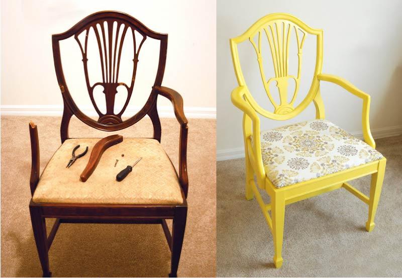 Не мусор, а сокровище: Как обновить старый стул