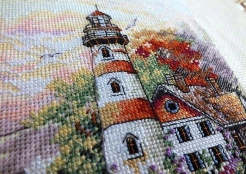 Вышивка с маяком