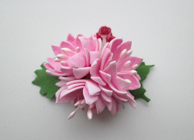 Цветы из фоамирана для заколки своими руками 75