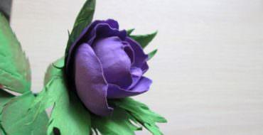 Сиреневая роза из фоамирана, фото