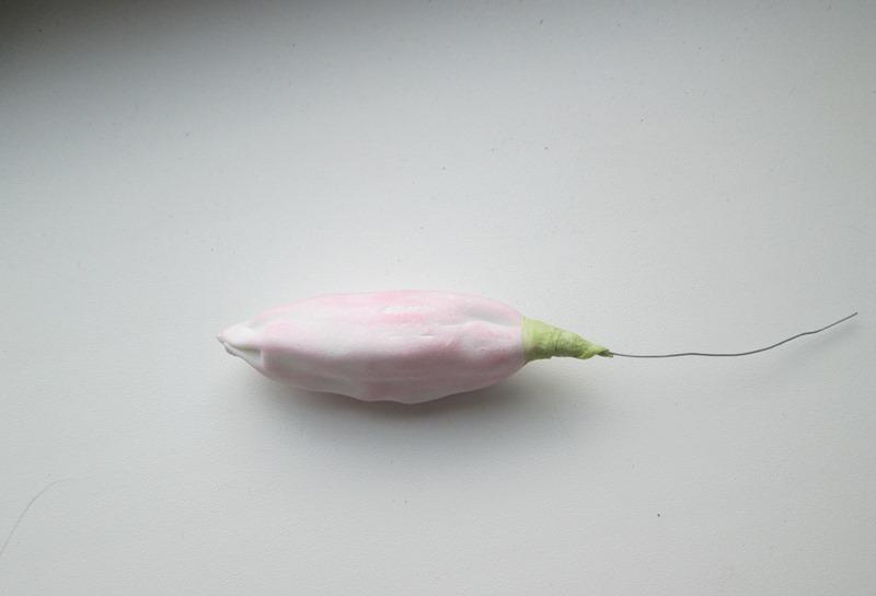 Как сделать бутон для лилии из фоамирана 263