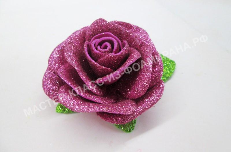 Розы из глиттерного фоамирана, фото