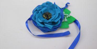 Цветы из фоамирана, роза