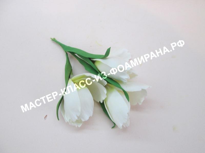 Белые цветы из фоамирана: пошаговый мастер-класс