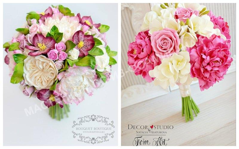 Красивые букеты невесты из фоамирана