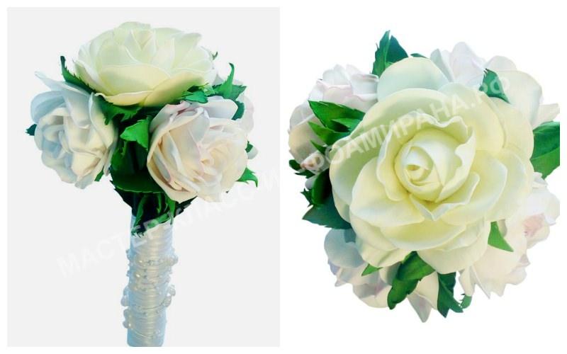 Свадебные букеты из фоамирана, фото
