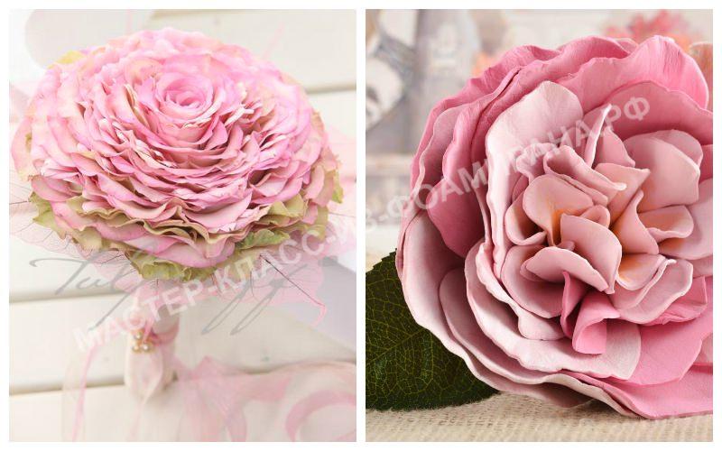 Свадебные букеты с одним крупным цветком