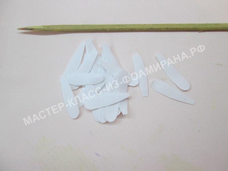 нанесения текстуры на лепестках