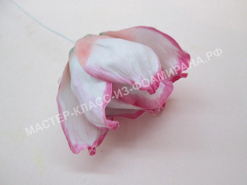 формирование цветка из зефирного фоамирана