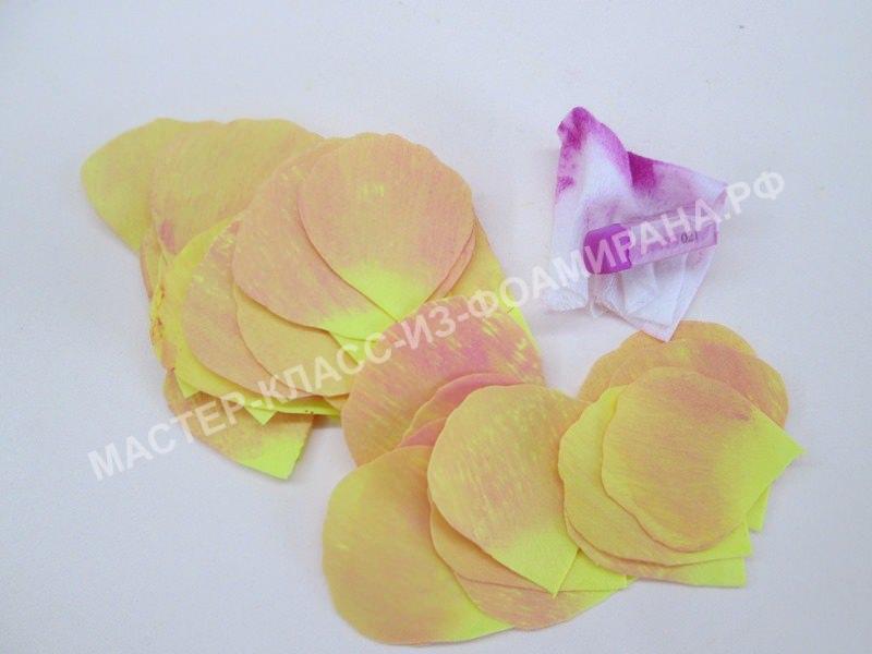 тонировка лепестков роз