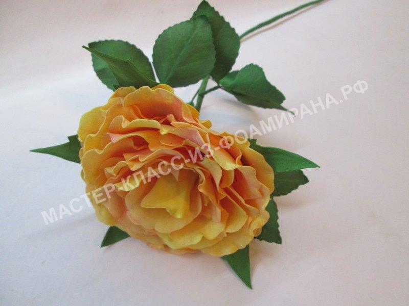 Мастер- класс распустившаяся роза из зефирного фоамирана