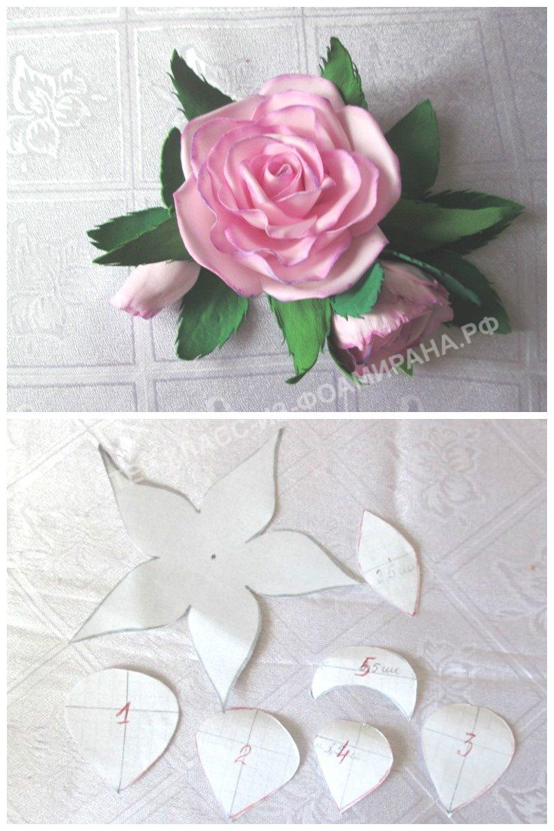 Выкройка красивой розы