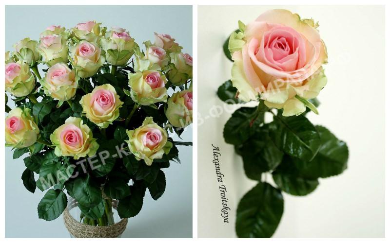 Букет роз dancing queen из зефирного фоамирана