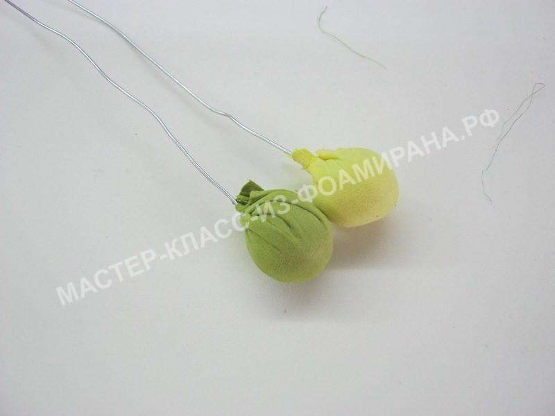 обтягиваем шарики кусочками фоамирана