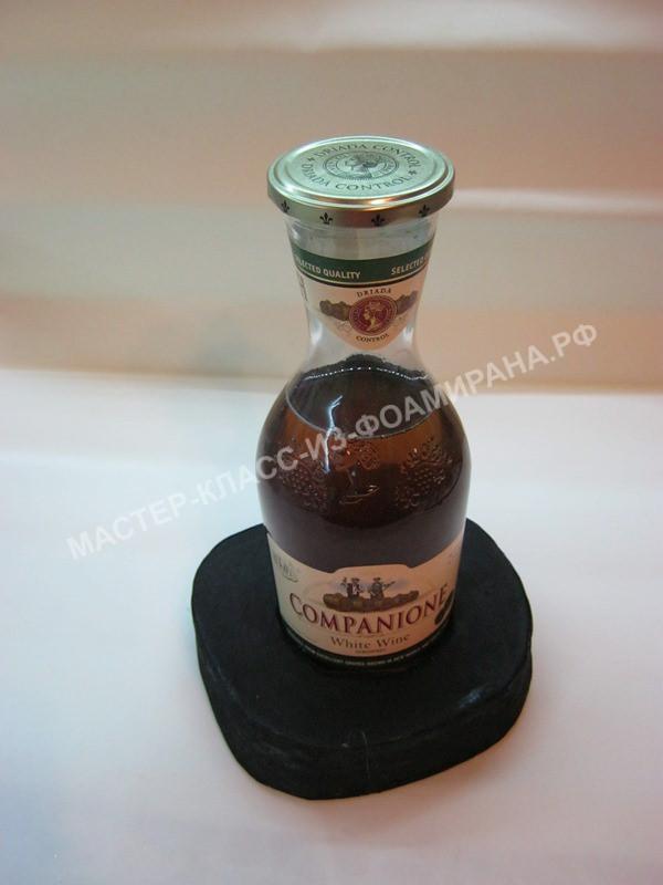 размещение бутылки на подставки