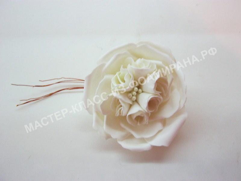 формирование распустившейся пионовидной розы