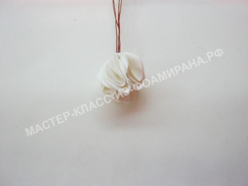 формирование серединки розы