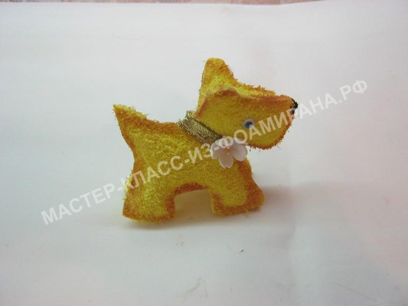 Мастер-класс символ Нового года,желтая собака,пошаговое фото
