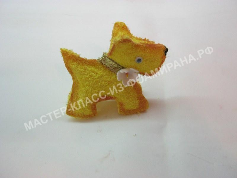 символ Нового года желтая собака,мастер-класс пошаговое фото