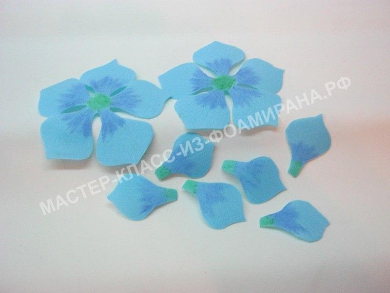 тонировка лепестков цветка